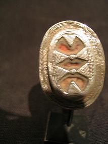 a khazakh silver ring