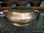 Large Chinese Bronze Censer Qing Dynasty
