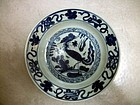 Chinese B/W Platter Ming Dynasty
