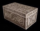Chinese ivory box with rare pierced through carving