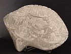 Chinese mother of pearl shell carved