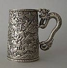 Chinese export silver tankard Leeching