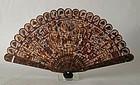 Chinese antique tortoiseshell fan