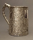 Chinese silver tankard by Wang Hing