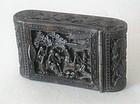 A Chinese tortoiseshell snuff box 19C