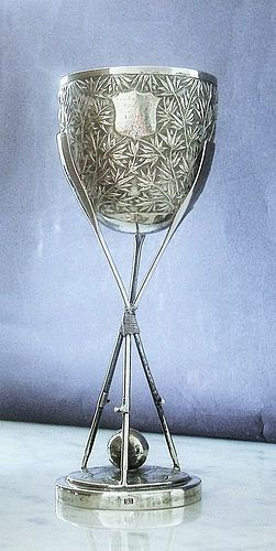 Chinese silver goblet dated 1890