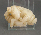 nephrite jade of a ram Chinese carving