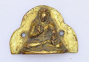 A Sino-Tibetan Gilt Bronze Seated Bodhisattva