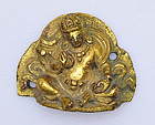 A Sino-Tibetan Gilt Bronze Seated Jambhala