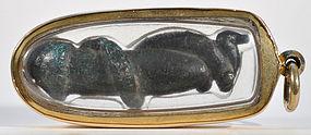 A Khmer Bronze Lingam