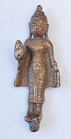 A Thai Pink Gold Standing Buddha