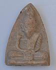 A Thai Clay Amulet of Rishi