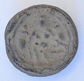 A Rare Thai Clay Seated Deity