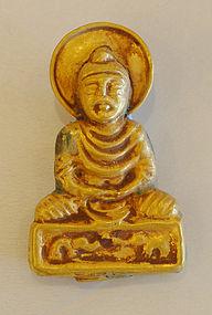 A Gold Pendant Gandhara Buddha