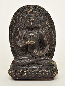 A Bodhisattva Seated on Lotus Throne