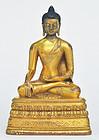 A Mongolian Gilt Bronze Buddha