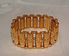 French Art Nouveau 18K Gold Link Bracelet