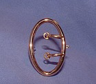 14K Yellow Gold Buckle Pin