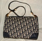 Authentic Christian Dior Navy Logo Shoulder Hand Bag