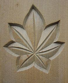 Kashigata (Wooden Sweet Mold,) Momiji (Japanese Maple)