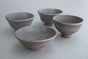 Sake or Tea Cups, set of 4, Stoneware; George Gledhill