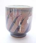 Mashiko Tea Cup, Yunomi, Kaki-Black Glaze, Hand-thrown