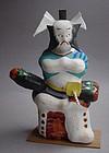 Miharu Hariko Papier-mache Doll, Kabuki Actor
