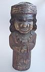 Ainu Carved Wooden Doll; Hokkaido, Japan