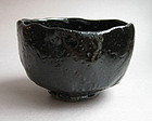 Black Raku Tea Bowl, Chawan, George Gledhill