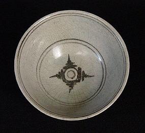 Bowl, Khalong ware, Northern Thailand, ca.14-16 C.