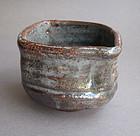 Tea Cup, Chawan, Gray Shino Glaze, by George Gledhill