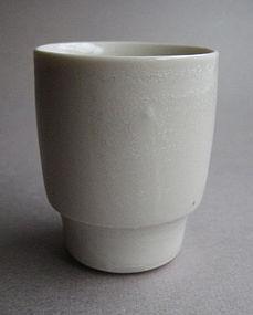 Sake / Whiskey Cups, Porcelain, by Hanako Nakazato
