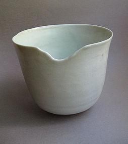 Bowl, White Shino Glaze; by Sachiko Furuya