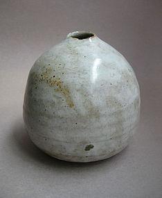 Vase, White Shino Glaze, Sachiko Furuya