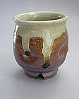 Mashiko Teacup (Yunomi,) Ash Glaze, Hand Thrown
