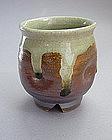 Mashiko Teacup (Yunomi,) Ash Glaze, Hand Thrown