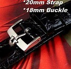 Omega 20mm Croc Calf Strap 18mm Current Logo Buckle