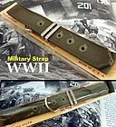 World War II Green Military Strap Army Marines C: 1942