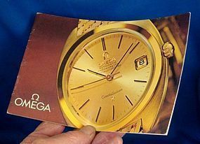 OMEGA Brochure 18k GOLD Models Identification 1963 Germany  Book