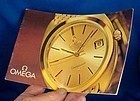 OMEGA Brochure 18k GOLD Models Identification 1963 Germany