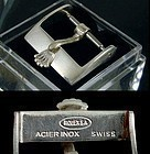 Vintage ROLEX 14mm Steel Logo Buckle Marked: ROLEXSA ACIER INOX Swiss