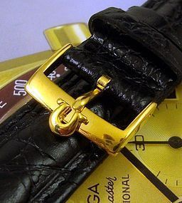 Omega Speedmaster Series  18mm Yellow Logo Buckle