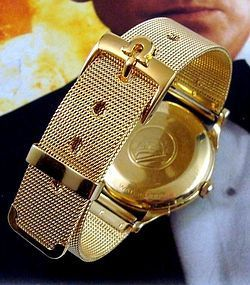 OMEGA 16mm Logo Buckle Generic Gold Mesh 20mm Strap