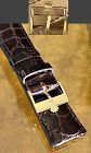ROLEX 18k GOLD Logo Buckle ROLEXSA 750 SWISS 20mm Tobacco Crocodile