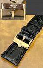 Rolex 18k Yellow Gold Logo Buckle CROCODILE 20mm Strap