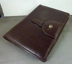 """Rolex Genuine Leather NOTEBOOK 6"""" by 8"""" C: 1975 R"""