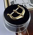 CARTIER Yellow Gold Filled 14mm Logo Buckle