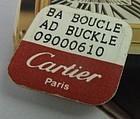 CARTIER 17mm Logo Buckle Yellow Gold Plate Factory Pkg