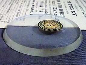 Pocket Watch EXTRA THICK Beveled hard rock crystal 49.5mm Circa: 1890