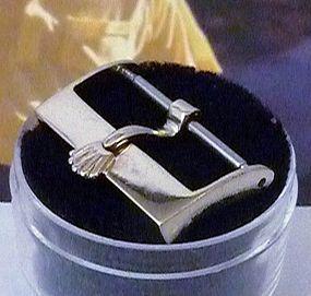 Vintage ROLEX 14k WHITE GOLD 18mm Logo Buckle 1970s